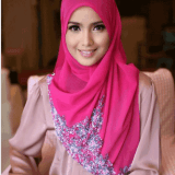 collection of pink hijab style modern 2017