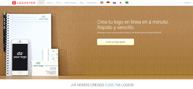 Logaster, tool para Crear logos