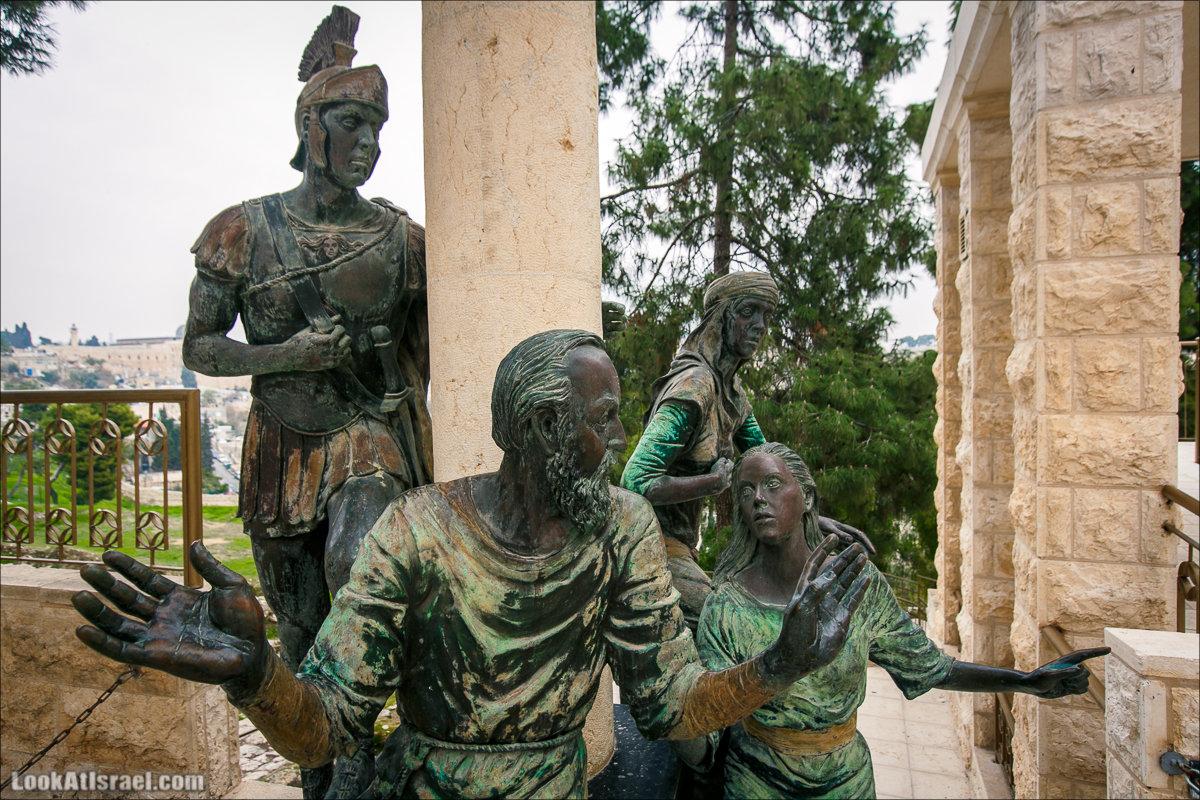 Церковь Святого Петра в Галликанту (Петушиного крика) | Church of St. Peter in Gallicantu | LookAtIsrael.com - Фото путешествия по Израилю