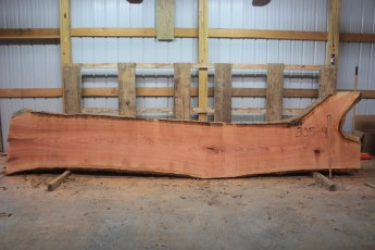 Cherry 305-4  Length 15', Max Width (inches) 44 Min Width (inches) 24 Thickness 10/4  Notes : Kiln Dried