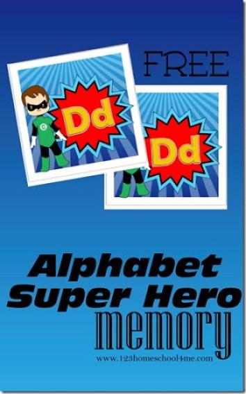 Super Hero Alphabet Memory