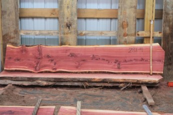 "Cedar 281-4  Length 8' 6"" Max Width (inches) 19 Min Width (inches) 15 Thickness 8/4  Notes : Kiln Dried"