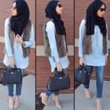 hijab street style looks 2017