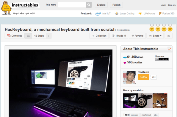 hackeyboard instructables