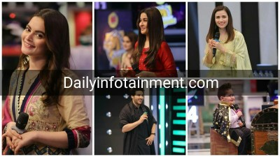 Aiman Khan, Sana Javed, Shaista Lodhi and Ahsan Khan Awesome Pictues from Jeeto Pakistan League