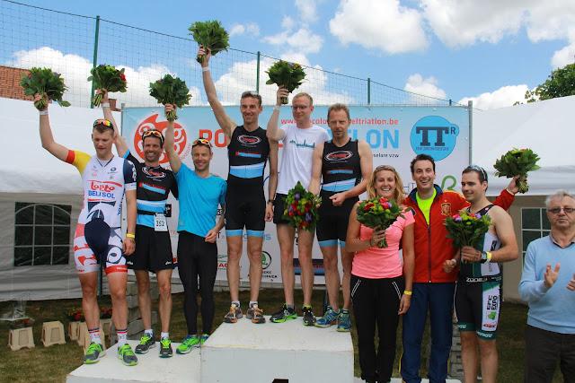 podium trio's 1/8e triatlon Roeselare 2015