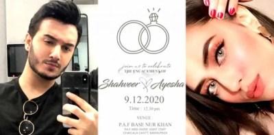 Shahveer Jaffery engagement