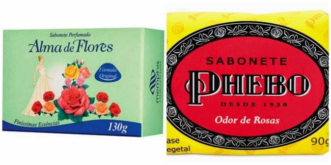 Produtos da vovó sabonete Alma de Flores Phebo