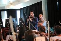 La práctica orquestal se llevó a cabo junto a orquestas de El Sistema que interpretaron obras del repertorio universal