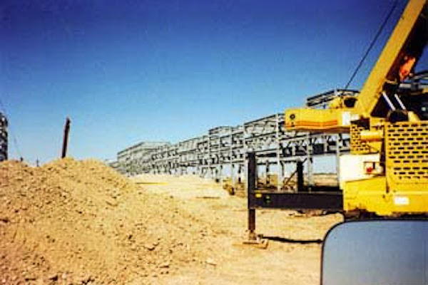 Systems Contracting Large Pipe Rack Steel Erection