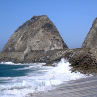 Pacific Coast Highway and the ocean off Point Mugu, 9/2/2012