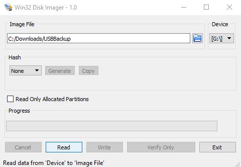 Phần mềm Win32 Disk Imager - TekDT