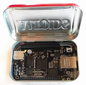 The BeagleBone single-board Linux computer is exiguous enough to slot in an Altoids tin. It has many customary/cause I/O pins, accessible by blueprint of the connectors along the pinnacle and backside of the board.