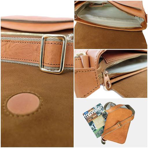 กระเป๋า messenger bag leather