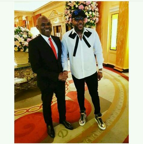 E-money hangs out with Tony Elumelu in London(Photos)
