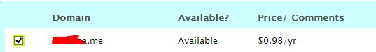 Domain Murah dot Me Harga $0.98 di NameCheap
