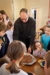 Tim with Sunday School children