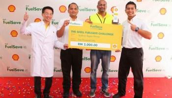 Encik Gunasegaran Alageri pemenang Shell FuelSave Challenge 2014 wilayah selatan