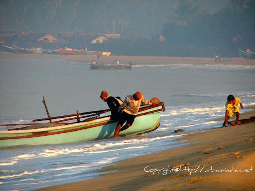 Fishermen at Vengurla Beach