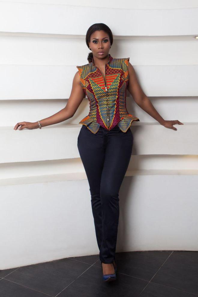 trendy african print dress ankara 2015 - Styles 7