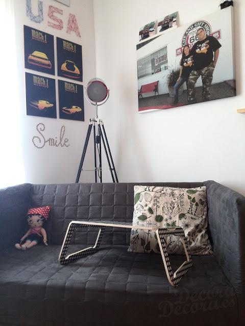 Sofá de IKEA.