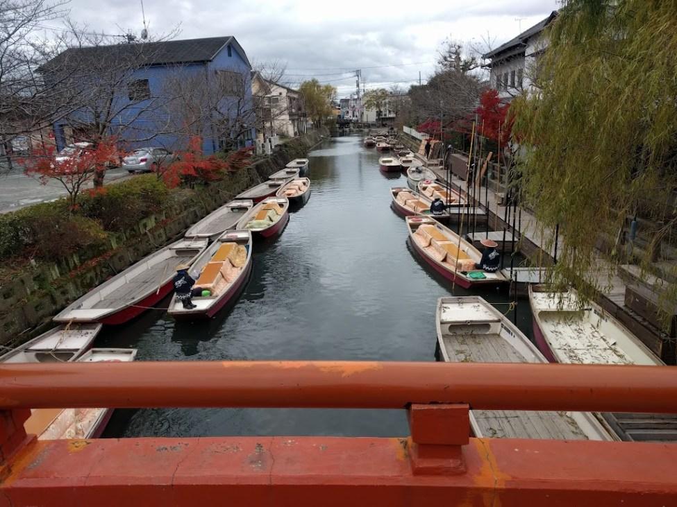 柳川の川下り、松月乗船場