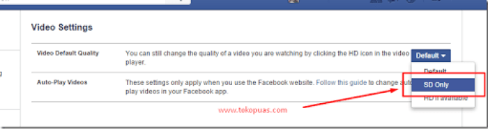 trik mematikan autoplay video status facebook