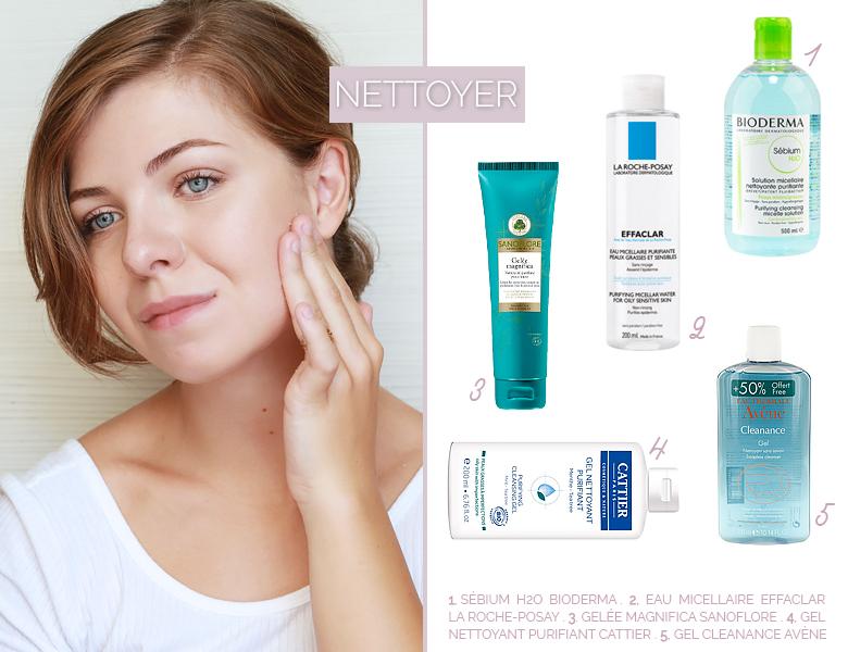 Sélection de produits nettoyants pour une jolie peau.