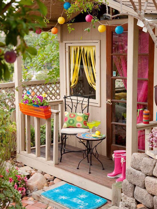 decorar el exterior de la casita del jardn