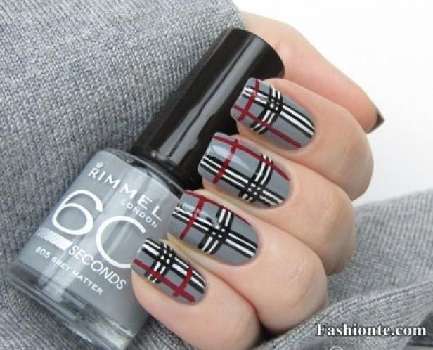 creative & cute stripped nail art