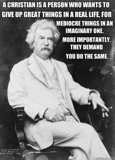 Great life quotes from Mark Twain's book