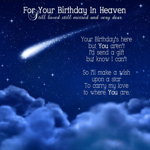 Happy Birthday in Heaven Friend Quotes