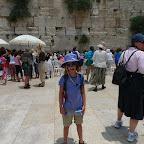 Emma at the wailing wall, Jerusalem