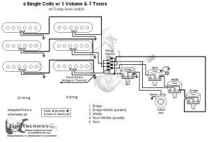 Solo DSTK1 (Doubleneck) Wiring Diagram  Fender