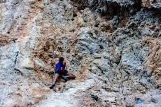 Enjoying the amazing rock around Olympos...