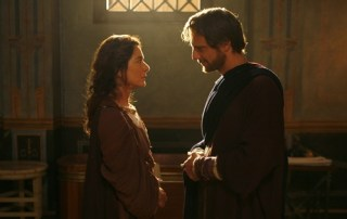 A younger Augustine and his mother, Monica, in a scene from Restless Heart-The Confessions of Augustine. Credit: Ignatius Press.