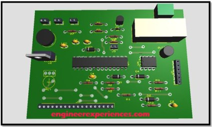 3D View of PCB
