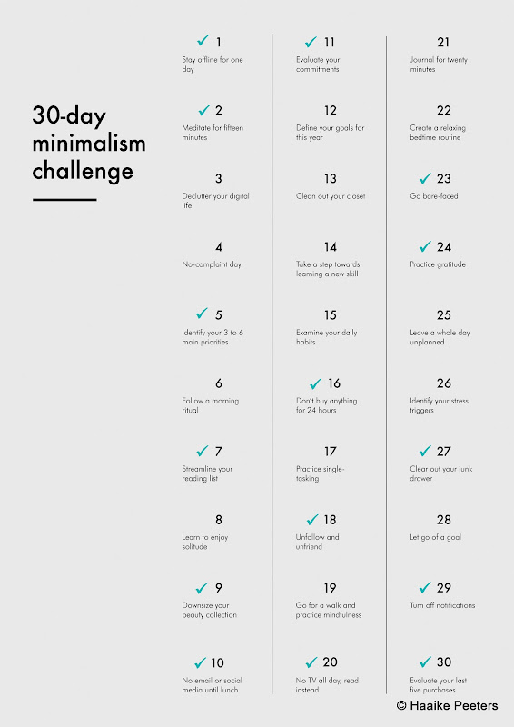 30-day minimalism challenge stavaza (Le petit requin)