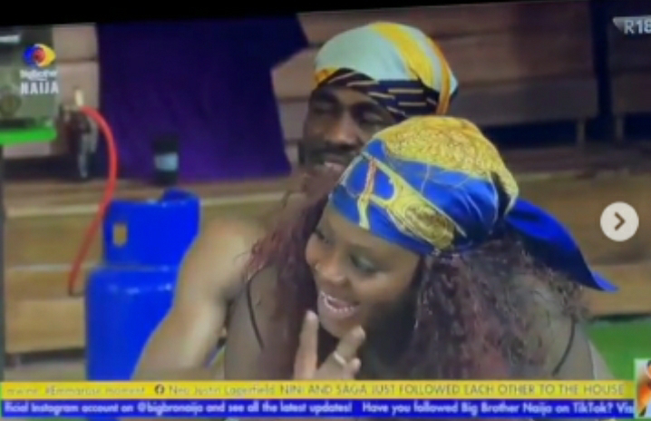 """Video) """"Boma will beat me if he finds out I'm not a married woman"""" - Tega  reveals during sixth Jacuzzi party last night"""