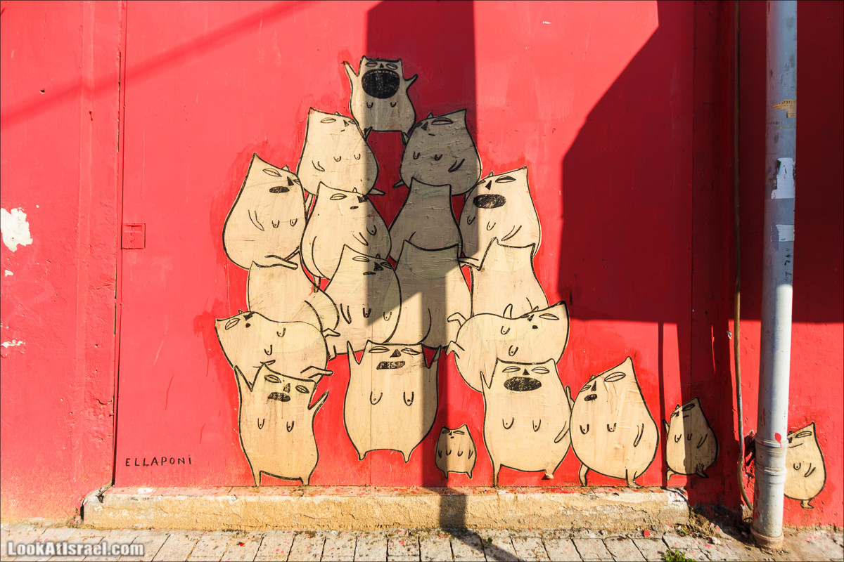 Граффити Тель Авива   LookAtIsrael.com - Фото путешествия по Израилю
