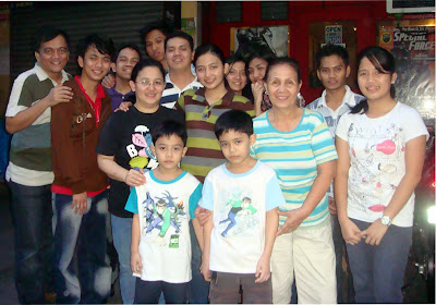 December 5: Anne Marielle Madlangbayan with her mother, grandmother, younger sister and younger brothers (Sampaloc, Manila)