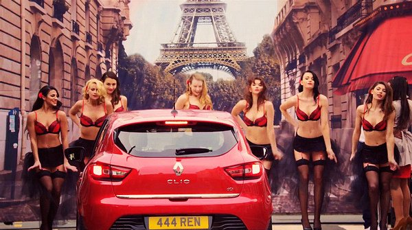 * Va Va Voom 內衣女郎搔首擺臀:展現法式魅力RENAULT Clio 趣味影片 1