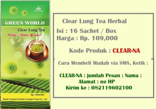 Harga Dan Cara Pemesanan Clear Lung Tea