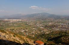 Elbasan in the distance
