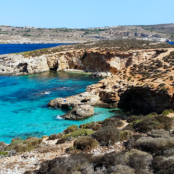 Picture of Comino, Malta.