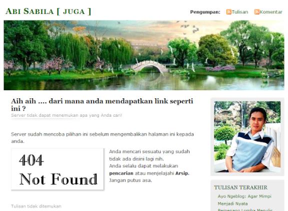 Tulisan blog dihapus