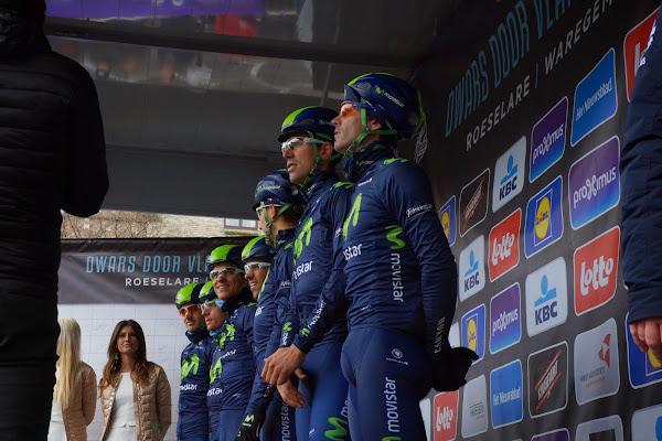 Team Movistar met Nairo Quintana
