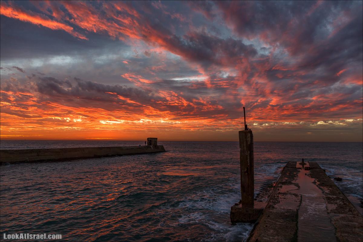 Огненный закат в Тель-Авив | Sunset in Tel_Aviv | LookAtIsrael.com - Фото путешествия по Израилю и не только...