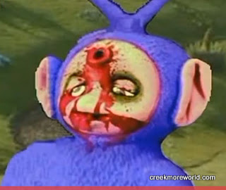 Tinky Winky was admitted while I was waiting .