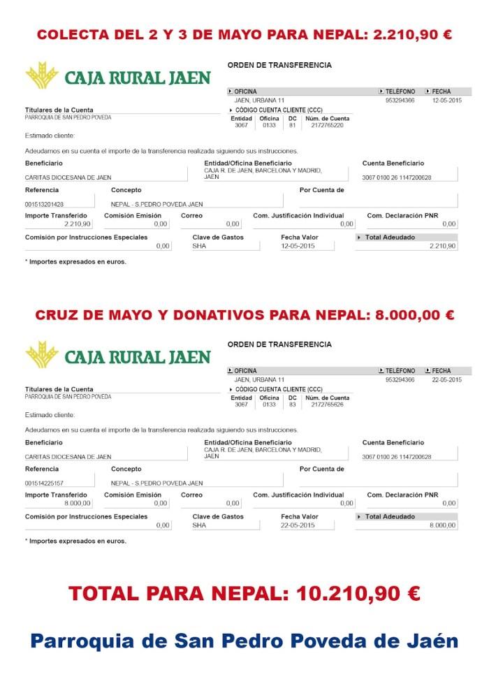 Donación a Nepal